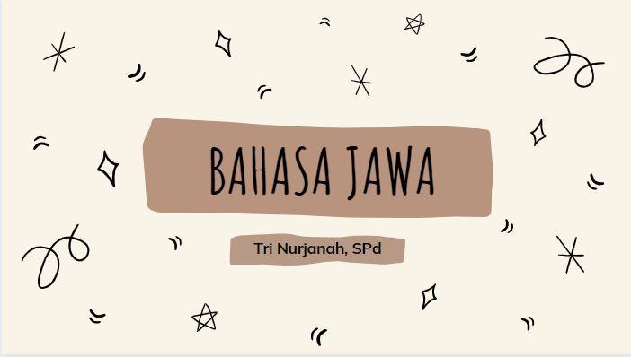 Bahasa Jawa  7G